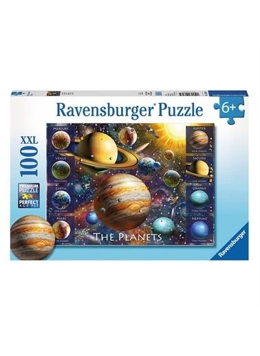 Ravensburger Puzzle 100 Parça Planets 108534 Renkli